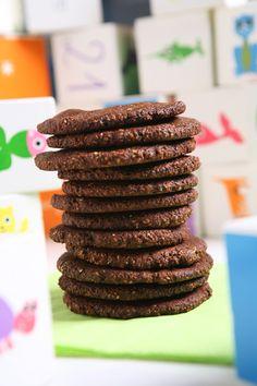 μπισκοτα σοκολατενια, με αμυγδαλο & φουντουκι χωρις ζαχαρη & γλουτενη (SF, GF, Vegan) | Real Family Food Baby Cooking, Food Categories, Paleo Dessert, Cookie Bars, Family Meals, Food To Make, Biscuits, Recipies, Real Family