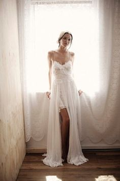 Sexy White/Ivory Bridal Beach Gown Wedding Dress Custom Size 2 4 6 8 10 12 14 16