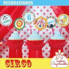 Kit de decoraciones para fiesta Circo