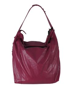 Love this Latico Leather Plum Dianne Leather Hobo by Latico Leather on #zulily! #zulilyfinds
