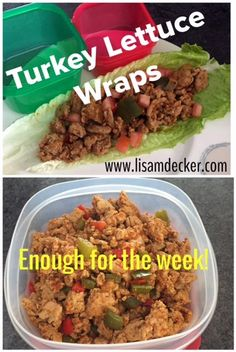 21 Day Fix Recipes, 21 Day Fix Extreme Recipes, Turkey Lettuce Wraps, Clean Eating I would have to do beef, I can't get into ground turkey Healthy Cooking, Healthy Snacks, Healthy Eating, Healthy Recipes, Easy Recipes, Fixate Recipes, Healthy Wraps, Recipes Dinner, Salat Wraps