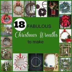 18 Fabulous Christmas Wreaths To Make via http://lifeovereasy.com/
