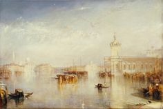 Title: The Dogano, San Giorgio, Citella, from the Steps of the Europa, 1842 Artist: Joseph Mallord William Turner Location: Tate Gallery London United Kingdom Joseph Mallord William Turner, Google Art Project, National Gallery Of Art, Covent Garden, Art Romantique, Turner Watercolors, Turner Painting, Tate Gallery, Johannes Vermeer