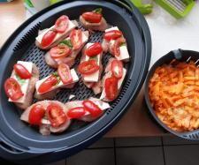 Rezept Puten-Minutensteaks mit Feta und Möhren reis von Sofia_1979 - Rezept der Kategorie Hauptgerichte mit Fleisch