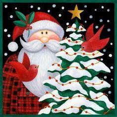 Artesanato Natalino: 10 imagens de Papai Noel para imprimir
