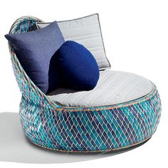 Dedon outdoor furniture; made from recycled drink bottles recyclable luxury ~ themodernsybarite