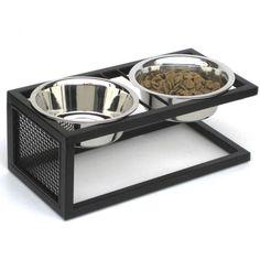 Cantilever Double Diner Dog Bowl