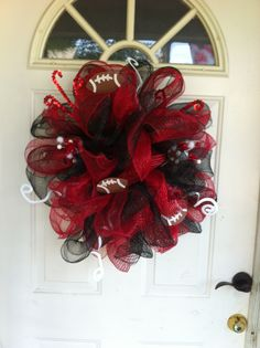 football wreath...April, I know someone who makes these!!