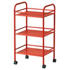 DRAGGAN Cart - red - IKEA $29.99 (Also comes in silver) I'm thinking I may just have to get a storage solution like this for my teensy bathroom- especially since I can't hang anything. Hmm..