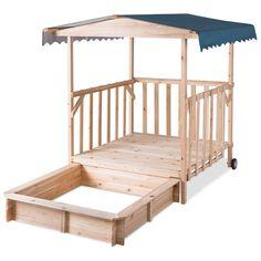 Outdoor Children Retractable Beach Cabana Sandbox with Canopy - Sandboxes - Outdoor Play Equipment - Toys & Games Sandbox Cover, Kids Sandbox, Sandbox Ideas, Outdoor Toys For Kids, Outdoor Play, Outdoor Ideas, Backyard Ideas, Backyard Movie, Backyard Play