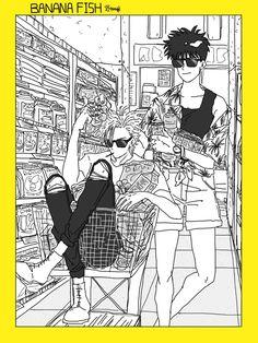 Ash and Eiji, literal fashion i c o n s Manga Anime, Anime Guys, Anime Art, Vocaloid, Manga Covers, Manga Pages, Animes Wallpapers, Grafik Design, Anime Characters