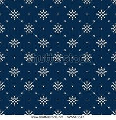 Winter Holiday Knitted Pattern with Snowflakes. Fair Isle Knitting Sweater Desig… – Knitting patterns, knitting designs, knitting for beginners. Fair Isle Knitting Patterns, Fair Isle Pattern, Sweater Knitting Patterns, Knitting Charts, Knitting Designs, Knit Patterns, Knitting Stitches, Knitting Sweaters, Knitted Christmas Stocking Patterns