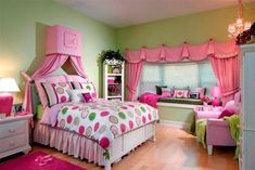 Girls Bedroom Ideas in Pink & Green | SocialCafe Magazine