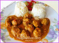 Húsgombócos curry