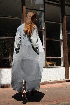 Coolawoola Upcycled Longcoat Womens Cloak Wool Spring Coat Perfect Cashmere Stylish Oversized Coat by coolawoola on Etsy