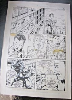 Original Comic Art Blood Syndicate Issue 5 Page 6 Chris Cross Art from DC Comics