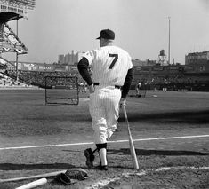 The Mick at Yankee Stadium Baseball Star, Sports Baseball, Baseball Players, Baseball Picks, Baseball Quotes, Mlb Players, Cardinals Baseball, Baseball Cards, Baseball Field