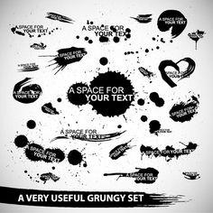 Grunge Design Elements Vector - Free Vector Site   Download Free Vector Art, Graphics