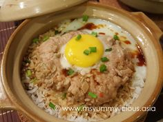 claypot rice recipe, claypot rice, minced meat