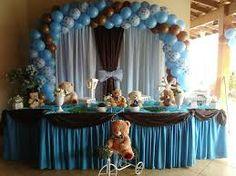 decoracao de festa infantil azul e marrom - Pesquisa Google