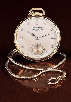 Tiffany & Co. pocket watch by Patek Philippe Beautiful Suit, Beautiful Watches, Cool Watches, Watches For Men, Stylish Watches, Patek Philippe Pocket Watch, Luxury Watches, Vintage Watches, Mens Fashion