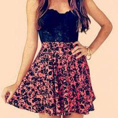 Cute teen fashion tumblr dress