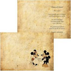 Invitación de Boda Mickey Mouse