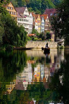 Tübingen by Boat, Baden-Württemberg, Germany