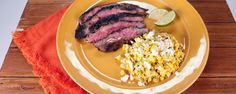 Create that delicious Mexican street corn at home & serve it up with a perfectly seared skirt steak!