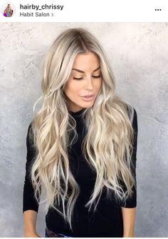Blonde Hair Goals, Ice Blonde Hair, Gorgeous Hair Color, Beautiful Long Hair, Blonde Hair Extensions, Hair Shades, Balayage Hair, Hair Looks, Pretty Hairstyles