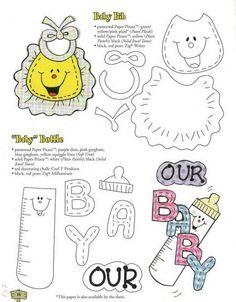 Moldes de ropita para baby shower con foami