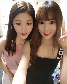 Chaeyeon (DIA) y Yuju (Gfriend)