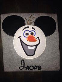 Olaf Mickey ear shirt