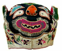 """Tiger Hat from the Book """"The Stories of Chinese Children's Hats; Symbolism and Folklore"""""""