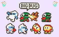 Classic Arcade: Dig Dug Magnets and Necklaces by MerkittenCrafts