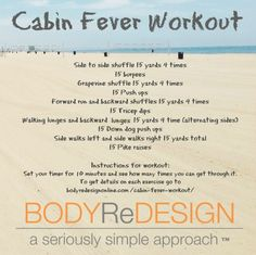 cabin fever workout