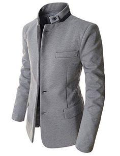 Showblanc (SBDJK8) Man's Slim FIt Chinese Collar 2 button Casual Style Blazer GRAY Large(US Medium) Showblanc http://www.amazon.com/dp/B00SV123MI/ref=cm_sw_r_pi_dp_lfX0ub066DHFZ