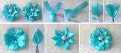 DIY ribbon flower .More #DIY projects >> http://wonderfuldiy.com/