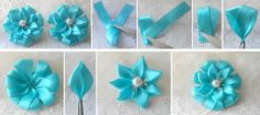 DIY ribbon flower .More #DIY projects >> http://wonderfuldiy.com/