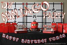 (I) (L)ove (D)oing (A)ll Things Crafty!: Ninjago Birthday Party Wrap Up!