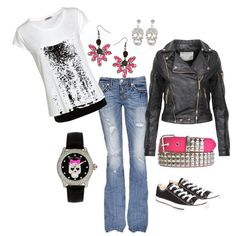 """""""Girly skull"""" by lopippen on Polyvore"""
