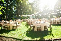 backyard wedding reception.