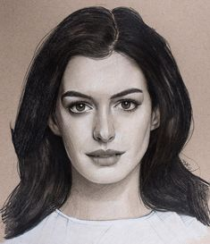 Anne Hathaway by Justin Maas Amazing Drawings, Cool Art Drawings, Realistic Drawings, Drawing Art, Anne Hathaway, Celebrity Drawings, Celebrity Portraits, Portrait Sketches, Pencil Portrait