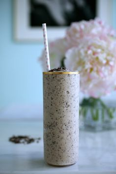 The Crunchy Peanut Butter Cashew, Get In Your PJ's & Watch A Movie Smoothie
