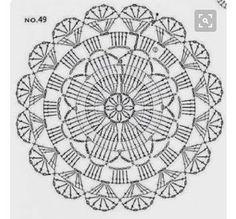Ideas crochet dishcloth circle stitches for 2019 Motif Mandala Crochet, Crochet Circles, Crochet Doily Patterns, Crochet Diagram, Crochet Chart, Crochet Squares, Thread Crochet, Crochet Doilies, Crochet Stitches