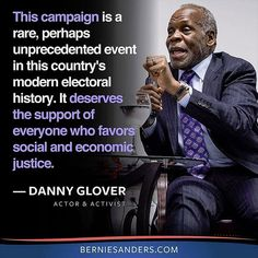 danny-glover re Bernie Sanders stunning victory over Clinton in Michigan!