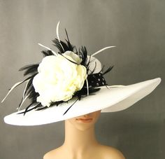 Hey, I found this really awesome Etsy listing at https://www.etsy.com/listing/105831270/derby-hat-dress-hat-wedding-hat-church