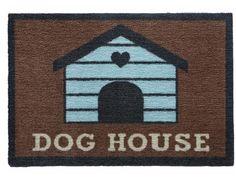 Artikel Eigenschaften von PREMIUM Hunde Fußmatte: Dog House - 50 x 75 cm braun - Tierisch-tolle-Geschenke