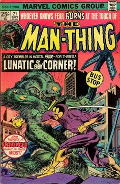 Marvel Man Thing issue 21 - Google Search