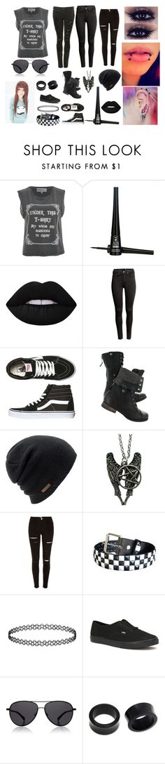 """""""Emo Outfit Girl"""" by abipatterson on Polyvore featuring Wildfox, ZuZu Luxe, Lime Crime, H&M, Vans, Coal, River Island, The Row and NOVICA"""